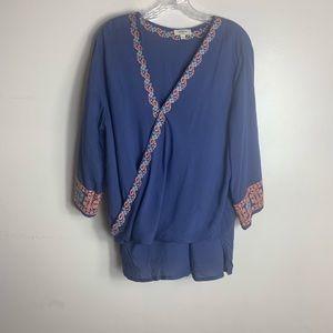 Umgee blouse boho style size large
